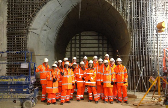 Businesses Visit Crossrail Site