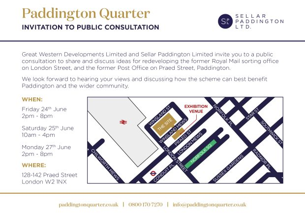 Paddington Quarter Public Consultation Invitation