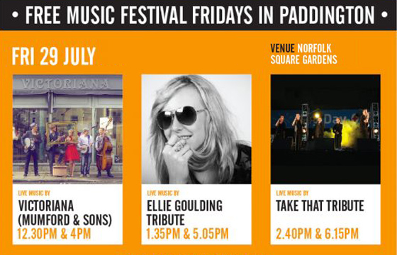Free Music Festival Fridays in Paddington