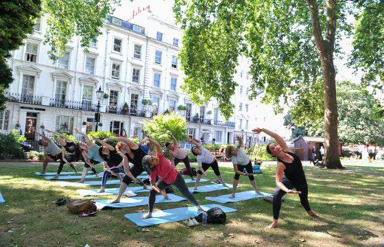 Free Yoga in Norfolk Square Gardens