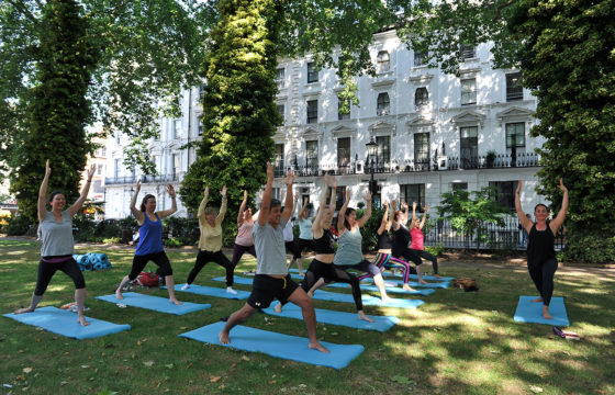 Yoga in the Square Every Tuesday Throughout the Summer