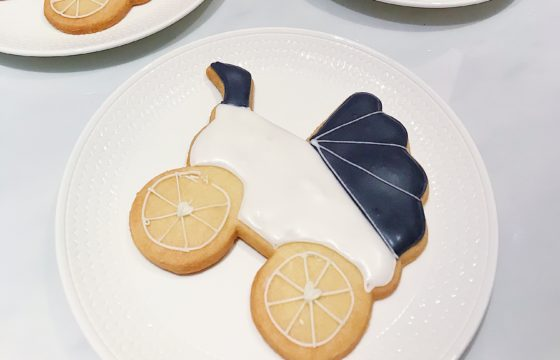Its a boy! Royal Lancaster complimentary baby buggy biscuits